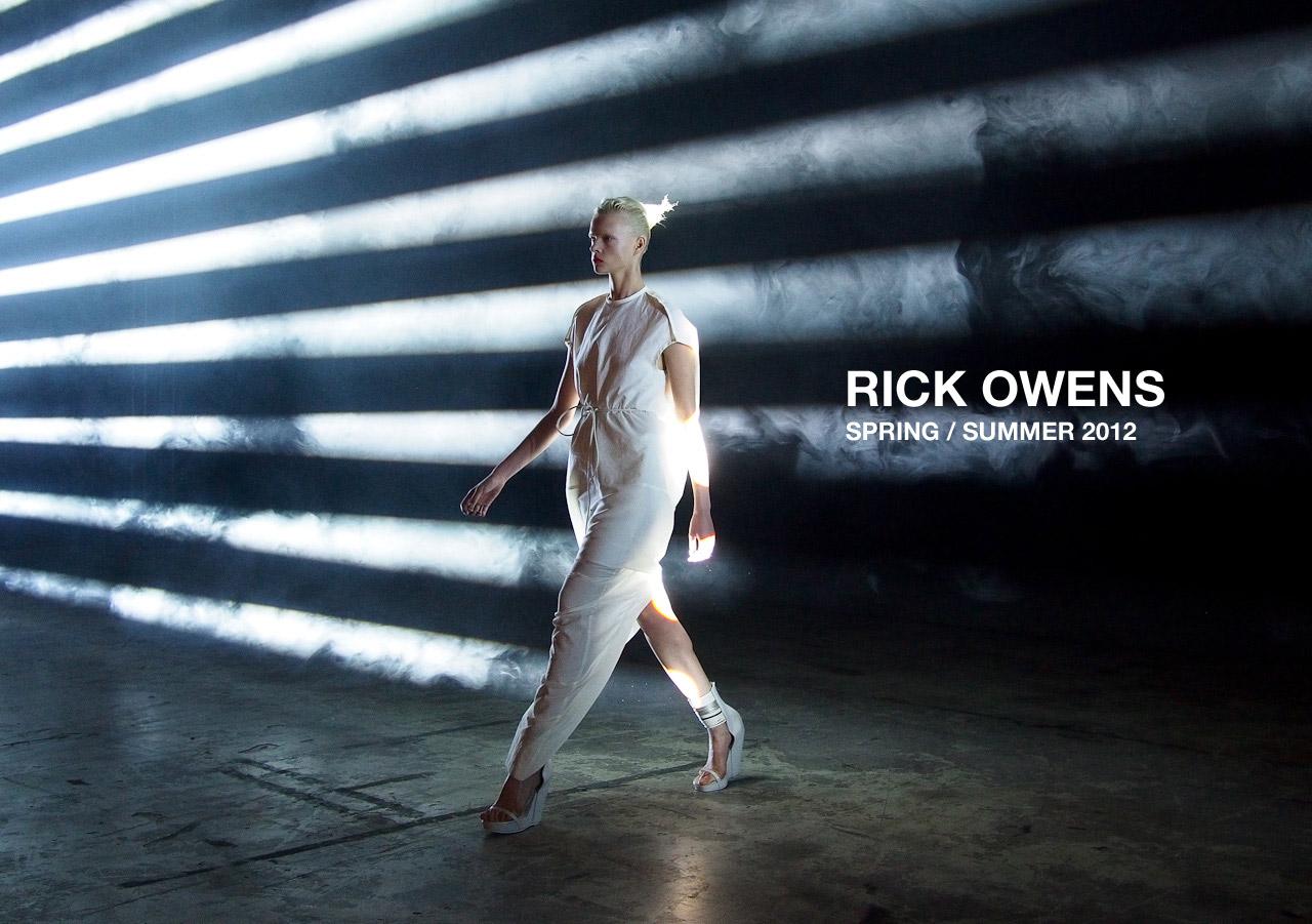 Rick Owens S S 2012 Models Com Mdx