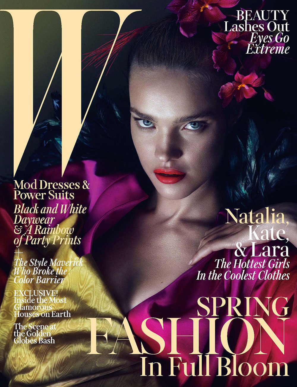 W March 2013 Exclusive: Fashion In Full Bloom With Lara