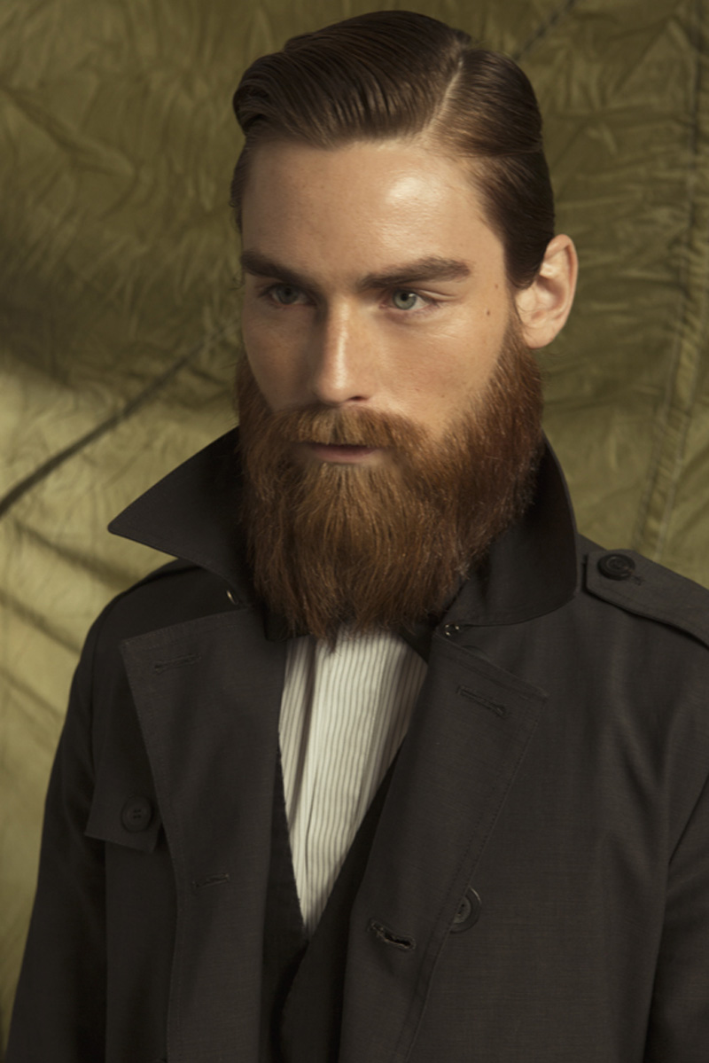 Fashion style Models male with beards for girls
