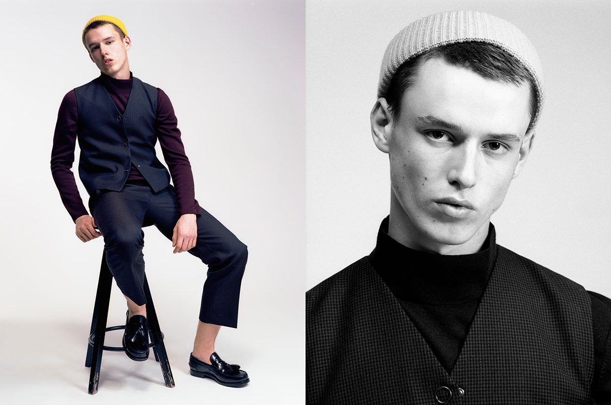 Daniel wears total look by COS, shoes by Prada, hat by Santoni edited by Marco Zanini.