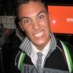 Jeremy Santucci shows off his crazed model pose