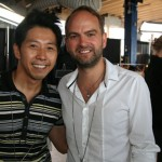 GQ Taiwan editor and photographer- Chiun Kai Shih with the designer, Andrew Buckler