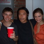 The REAL bull wrangler, Wilhelmina's Greg Chan (middle) with friends