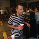 Another striped shirt fan, Rassi of Milk has a blast