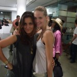 Julia Stegner, after a long day of shooting at Milk, still looks so fresh and gorgeous. With the lovely Laura from Women.