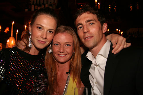 The enchanting Elettra Wiedemann (the other host) with IMG agent Lisa and James Marshall