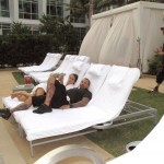 Richard from Elite with Alessandra. The few relaxing moments of being an agent. Pic courtesy of Richard