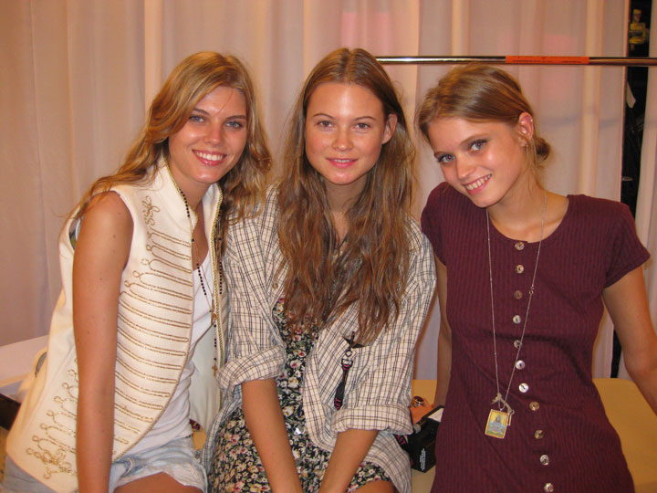 How naturally gorgeous are Maryna, Behati and Abbey? (pic: Paulo)