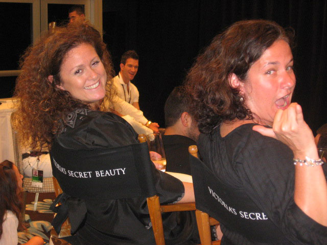Agents to the stars: Maja/IMG and Marguerite/DNA. (pic: Fred/Vivien)