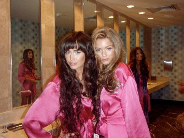 Representing Next... and Australia.... are Sarah and Abbey Lee. (pic: courtesy of Leigh)