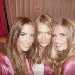 New VS star Clara Alonso with VS regular beauties Carmen Kass and Julia Stegner (pic courtesy of Leigh)