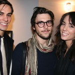 VS beauty Andie Muise with Jasper and Kolt