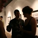 Jeremy Kost and Helena converse.