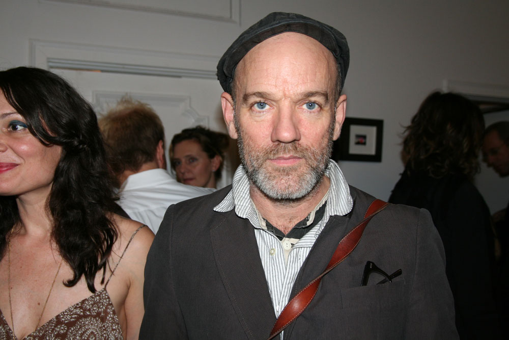 Michael Stipe is gracious when approached.