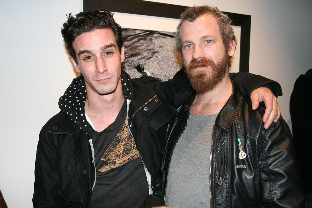 Actor James Ransone with buddy Dill
