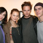 Gorgeous friends; Barbara Garcia, Behati Prinsloo, Jamie Strachan and Vincent LaCrocq