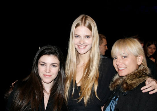 Julia Stegner with Maddox (left) and Melissa (right)