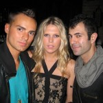 Derek from Wilhelmina with Alexandra Richards with Jeremy Kost