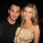 Maryna Linchuk and friend Sal