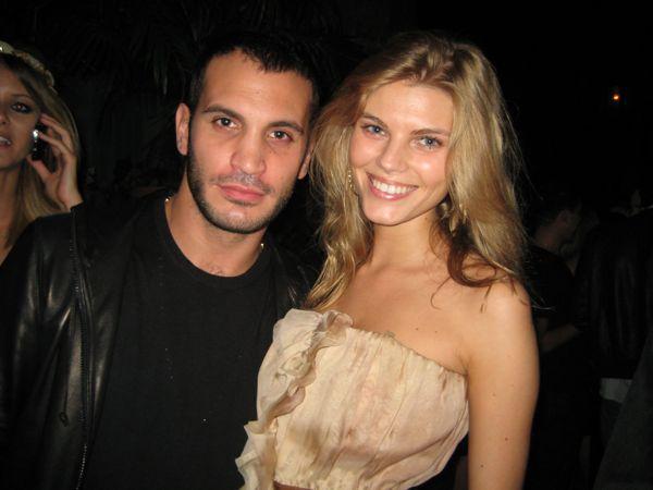 Maryna Linchuk and friend Sal