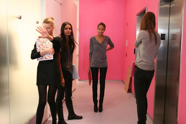 At the DvF casting with Laura, Gracie and co.