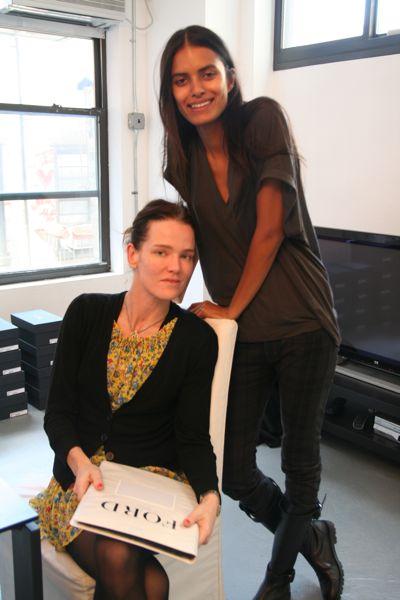 With casting director, Anita Bitton (Establishment) at Behnaz Sarafpour