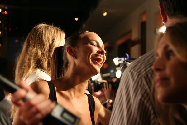 Irina Shayk charms the media