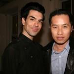 Stylist Keegan Singh with designer Philip Lim