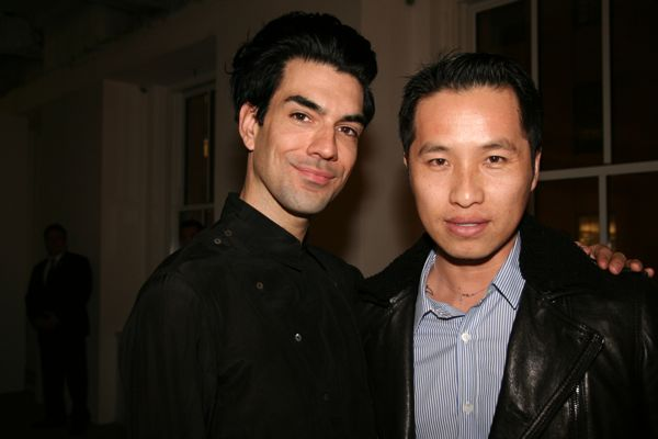 Stylist Keegan Singh with designer Philip Lim