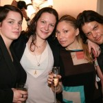 Ford agents Kati and Emily, VNY's Lana Winters, Ford model Cartwright Lee