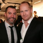The man responsible for the top talent, GQ bookings director Richard Blandino with photographer Alex Cayley