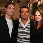 Tom Jarrold from Armani Exchange, Wilhelmina President Sean Patterson and agent Lori