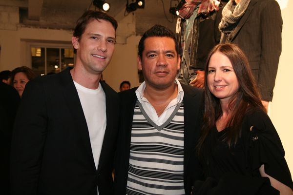 Tom Jarrold from Armani Exchange, Wilhelmina President Sean Patterson and agent Lori