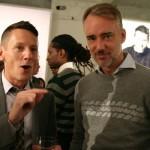 Editor in Chief Jim Nelson with designer Michael Bastian