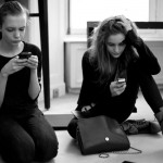 Sophie Srej and Dorothea, texting away