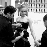 At a fitting at Ungaro