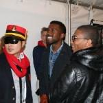 Backstage at Y3, the omnipresent Mr West
