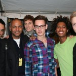 At Y3, NY Model agents Agel and David with their hottest guys: Matt, Jakob, Thiago and Dennis