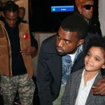 Kanye with one of the Y3 adorable kids