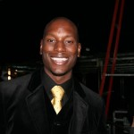 Backstage at Z Zegna, movie star Tyrese