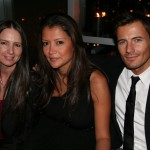 Wilhelmina agent Lorri Shackelford with Alex Lundqvist and Alex's wife Kaytt