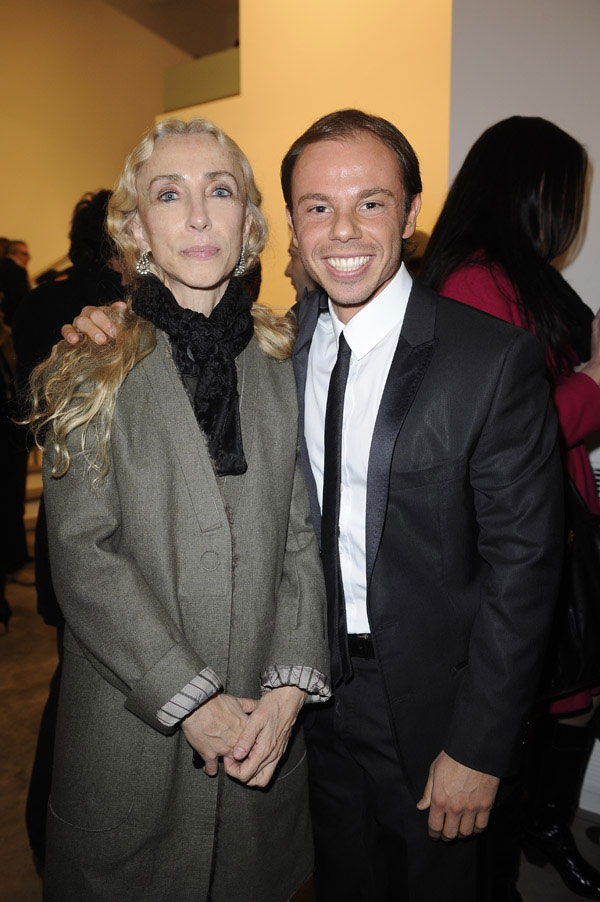 Nicola with Franca Sozzani, Vogue Italia editor in chief.