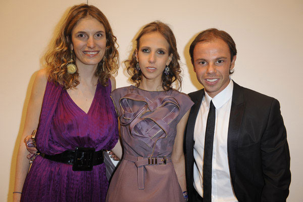 Martina Mondadori, Allegra Versace and Nicolo Cardi