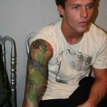 Nicholas Lemons, the original tattoed model