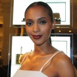 Rahma (IMG) shows off the perfect red lips and black liner