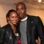 Elite model Elizabeth Mathis (soon to be in the Tron remake) with fiancee, top model Isa Rahman