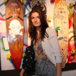 Former MOTW beauty, Ava with her skull & crossbones board
