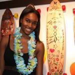 Damaris with her board!
