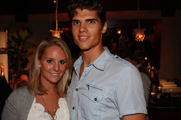 Brian Shimansky with girlfriend...