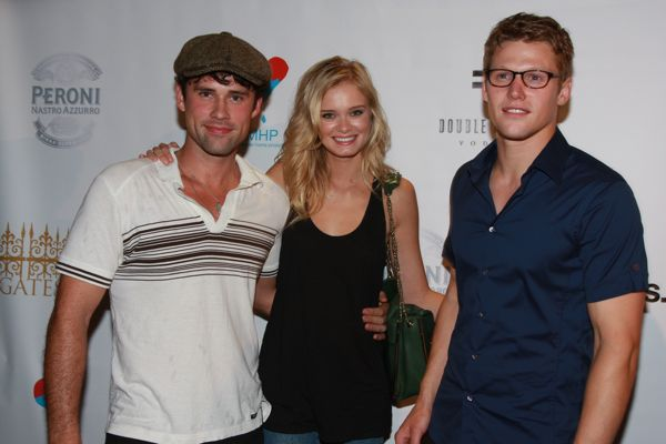 "Ben Hollingsworth and Sara from ""The Beautiful Life"" and Zach Roerig from ""The Vampire Diaries"""